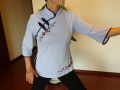 チャイナTシャツ(刺繍入り)