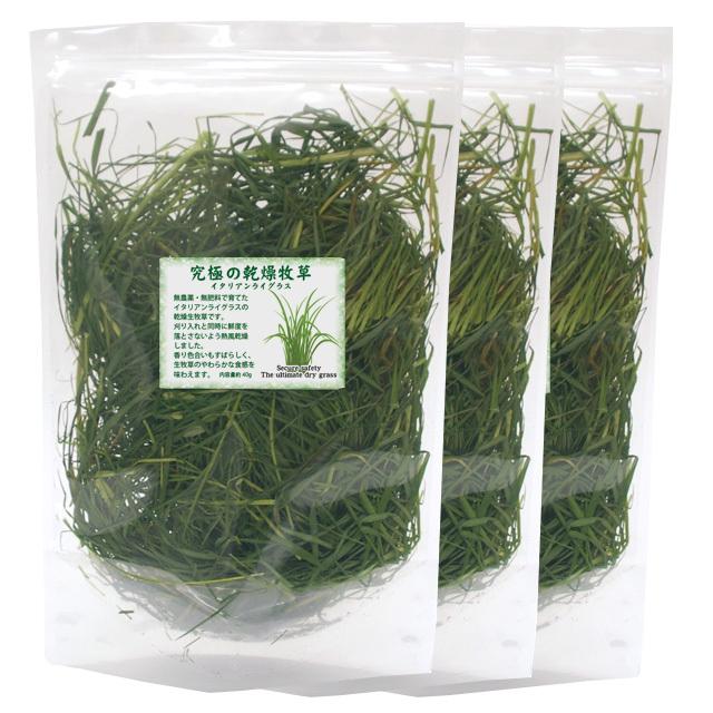究極の乾燥生牧草 40g×3個セット