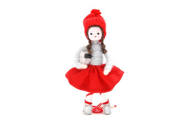 Anne Beate Design イヤードール 子羊を持つ女の子