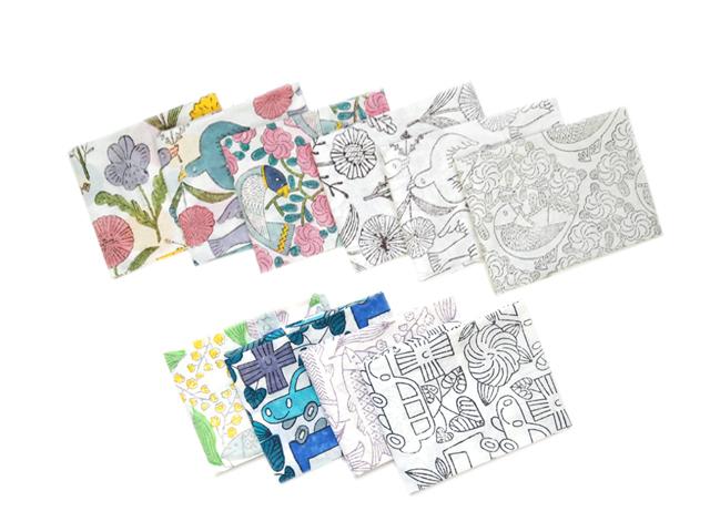 鹿児島 睦(Makoto Kagoshima) ブロックプリント ハンカチ