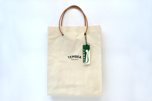 TEMBEA(テンベア) PAPER TOTE LOGO TMB-1777H NATURAL