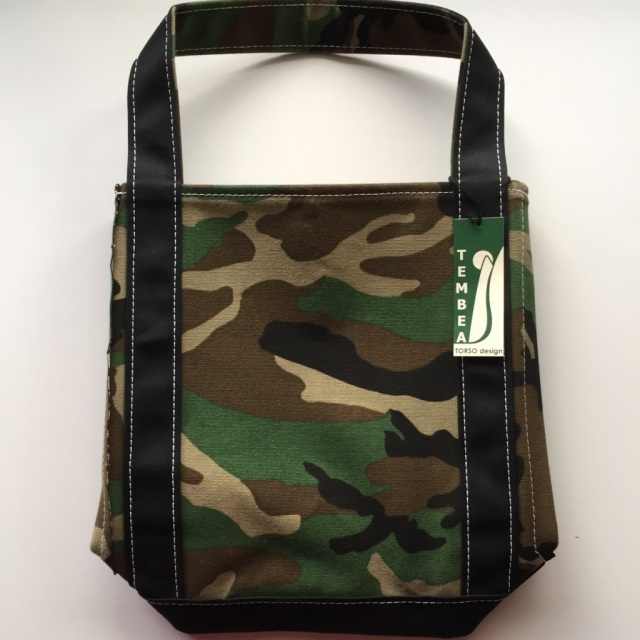 TEMBEA(テンベア) BAGUETTE TOTE (バゲットトート) SMALL WOODLAND CAMO/BLACK