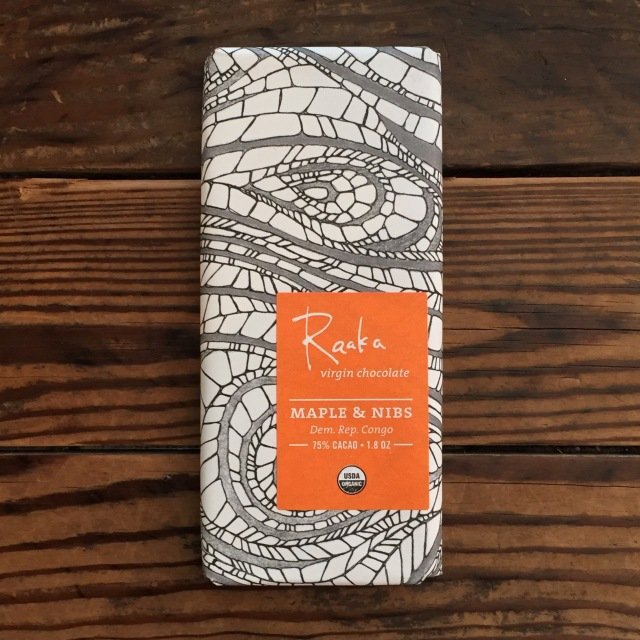 「Raaka」VIRGIN CHOCOLATE -MAPLE&NIBS- カカオ75%