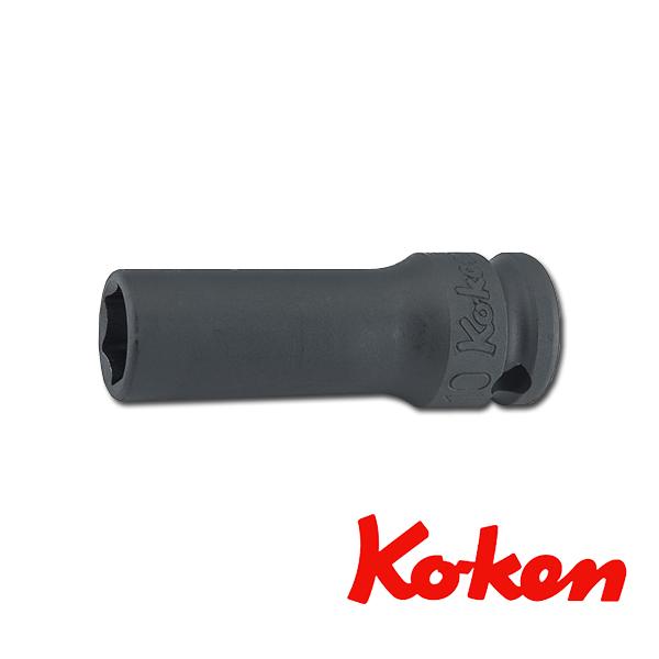 """Koken(コーケン) 3/8""""-9.5 13301X-24 インパクト薄肉セミディープソケット(6角) 24mm"""