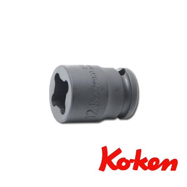 """Koken(コーケン) 3/8""""-9.5 13400-WN-17WN インパクトウエルドナットソケット 17WN"""