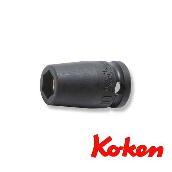 """Koken(コーケン) 3/8""""-9.5 13400MG-22 インパクトソケット(マグネット付) 6角 22mm"""