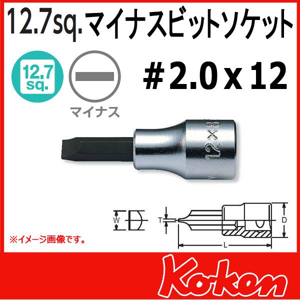 """Koken(コーケン) 1/2""""-12.7 4005-60-12  マイナスビットソケット 2.0x12mm"""