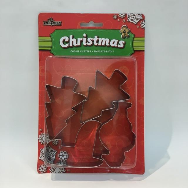 クッキー抜きセット 4P クリスマスツリーF3552