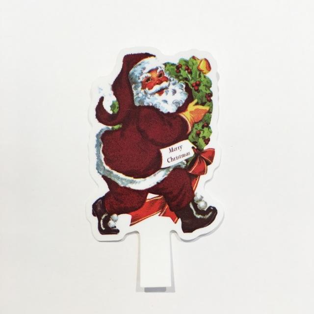 クリスマスアンティークサンタケーキピック-1