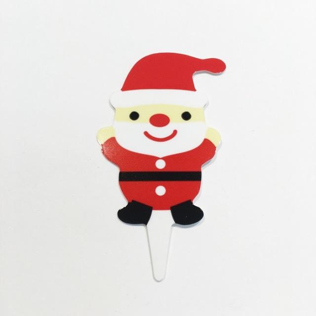 クリスマスケーキピック-ミニサンタ