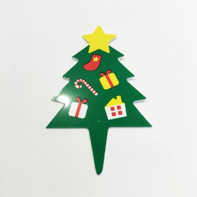 クリスマスケーキピック-ツリー