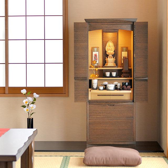 桐仏壇 和心 40×16号/設置サービスを利用する(無料)/引き取りサービスを利用する