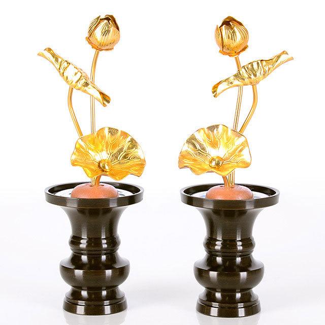 真鍮 常花 3本立 金色 3.0寸