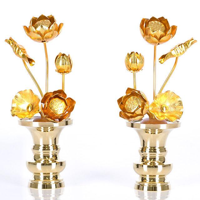 真鍮 常花 5本立 金色 3.0寸