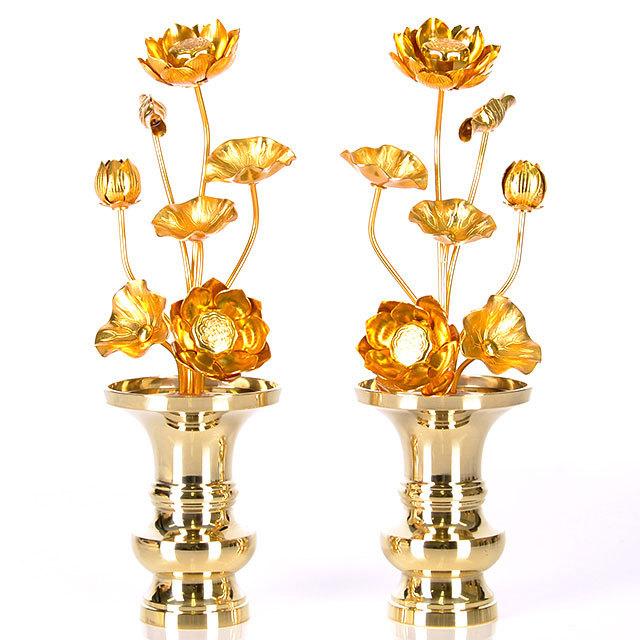 真鍮 常花 7本立 金色 4.0寸