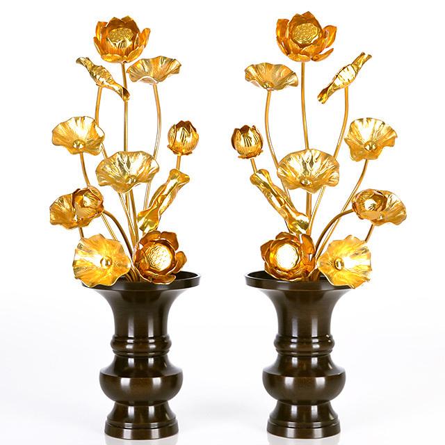 真鍮 常花 13本立 金色 1尺2寸