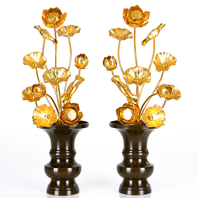 真鍮 常花 15本立 金色 1尺2寸
