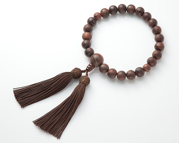 男性用 略式数珠(片手念珠) 鉄刀木(たがやさん)