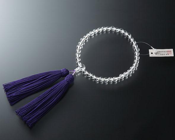 女性用 略式数珠(片手念珠) 水晶7ミリ 共仕立東雲房