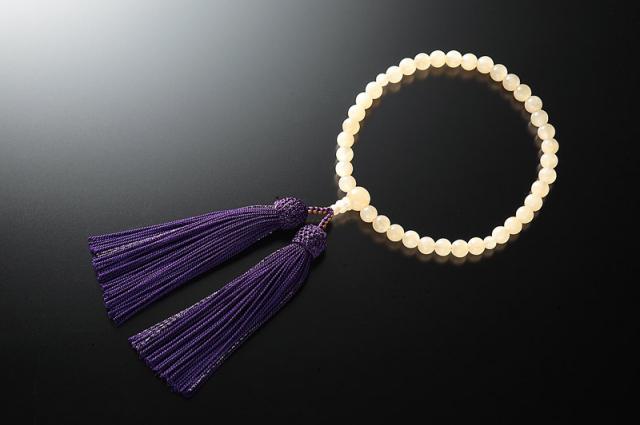 女性用数珠(念珠) イエローオニキス 天然石 共仕立