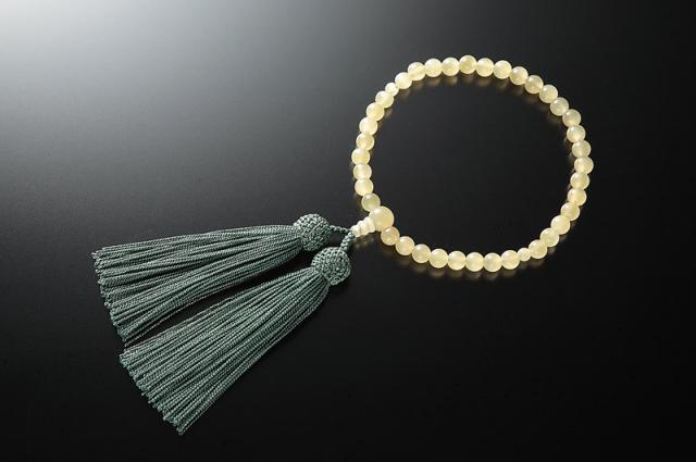 女性用数珠(念珠) グリーンオニキス 天然石 共仕立