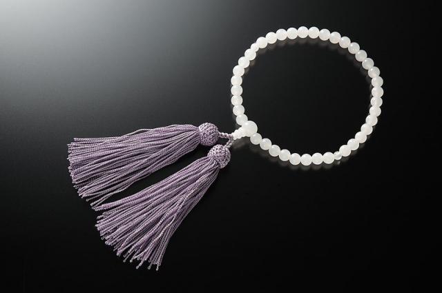 女性用数珠(念珠) ホワイトオニキス 天然石 共仕立