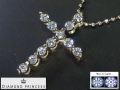 DIAMOND PRINCESS 【全石ハート&キューピットダイヤ使用!】 K18ピンクゴールドダイヤクロスペンダント FKS452PG