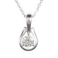 【全石ハート&キューピットダイヤ使用!ピンクゴールドもあります。】 K18ホワイトゴールド ダイヤモンドペンダント JS353657