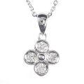 【全石ハート&キューピットダイヤ使用!ピンクゴールドもあります。】 K18ホワイトゴールド ダイヤモンドペンダント JS353904
