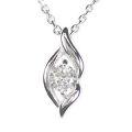 【全石ハート&キューピットダイヤ使用!ピンクゴールドもあります。】 K18ホワイトゴールド ダイヤモンドペンダント JS354335
