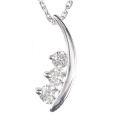 【全石ハート&キューピットダイヤ使用!ピンクゴールドもあります。】 K18ホワイトゴールド ダイヤモンドペンダント JS354338