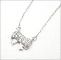 【即日発送可!かわいいリボンモチーフです♪】 K18ホワイトゴールド ダイヤモンド ペンダント PNWG015SAO