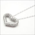 【即日発送可!きらきらに輝く全面ダイヤモンド・ハート♪】 K18ホワイトゴールド ダイヤモンド ペンダント PNWG065SAEH