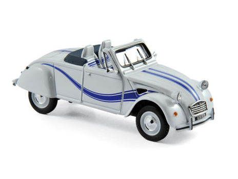 NOREV/ノレブ シトロエン 2CV Cabriolet Azelle 1990  White with blue deco