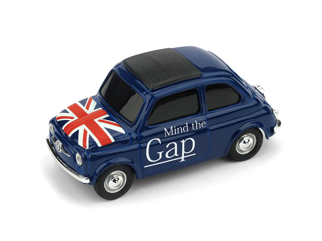 BRUMM/ブルム フィアット ニュー 500 イングランド Mind the gap - God save the Queen