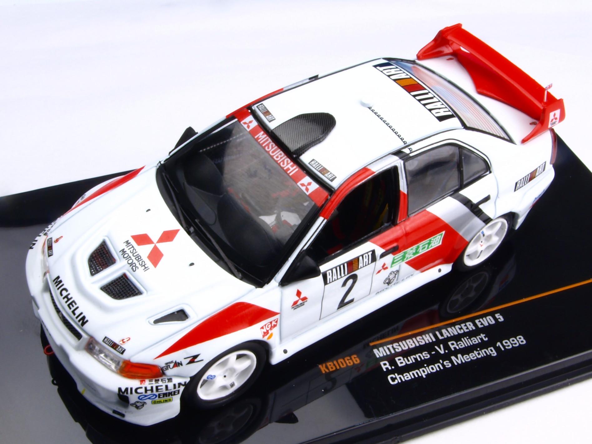 KBモデル(イクソ) 三菱 ランサー EVO V  1998年 ラリーアート・ミーティング #2 R.バーンズ