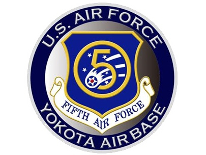 彫金アート マグネット アメリカ空軍 第5空軍 YOKOTA