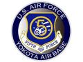彫金アート ステッカー アメリカ空軍 第5空軍 YOKOTA
