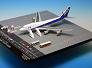 ANA/全日空商事 B747-400D JA8961 ドアクローズ GSE付 羽田空港408スポットジオラマ