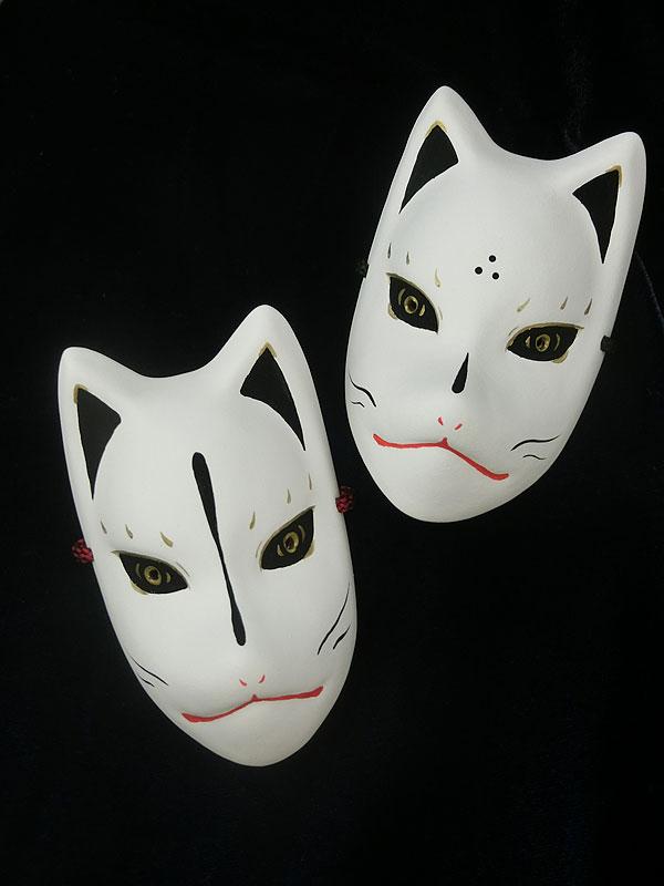 絵本狐堂:ミニ狐面(黒)