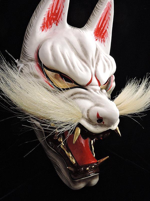 石見神楽面:悪狐(小)