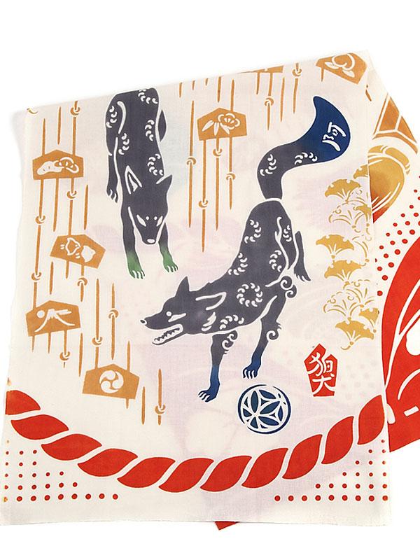 手拭い「狛犬」