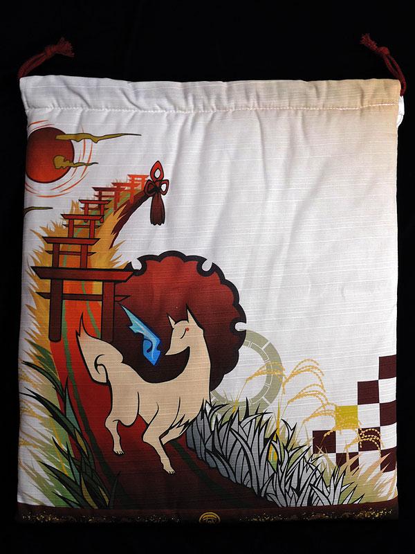 【色欠け】狐面堂:巾着「稲荷詣り」(狐面用)