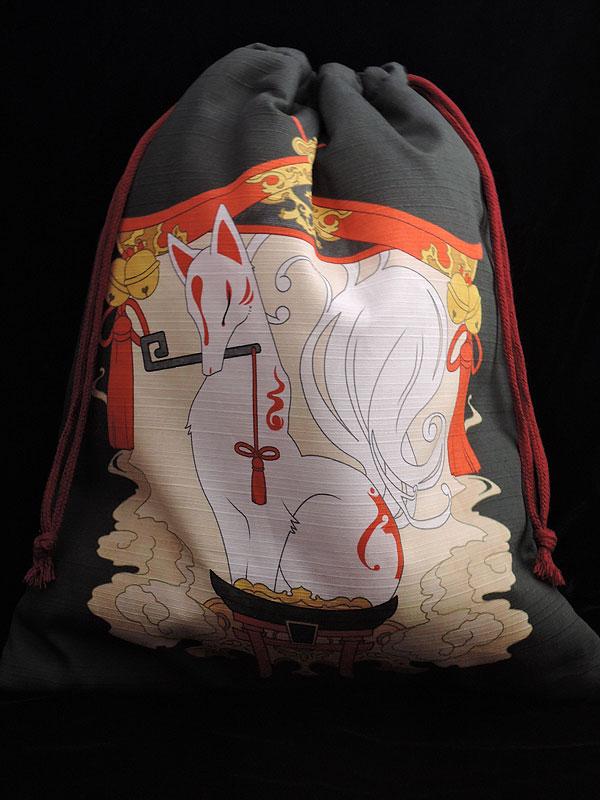 巾着「狐の社」(狐面用)