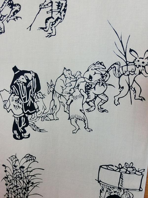 戸田屋商店:鳥獣戯画手拭い