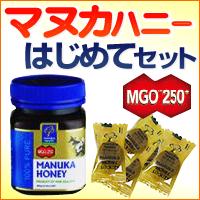 送料無料/マヌカはじめてセット (マヌカハニーMGO 250+250g &マヌカキャンディー5粒)