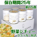 サバイバルフーズファミリーセット クラッカー3缶&野菜シチュー(約15食)【非常食 長期保存食】送料無料