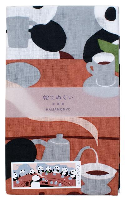 濱文様の絵てぬぐい パンダカフェ
