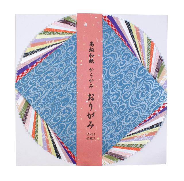 越前和紙 からかみ 折り紙 15×15cm