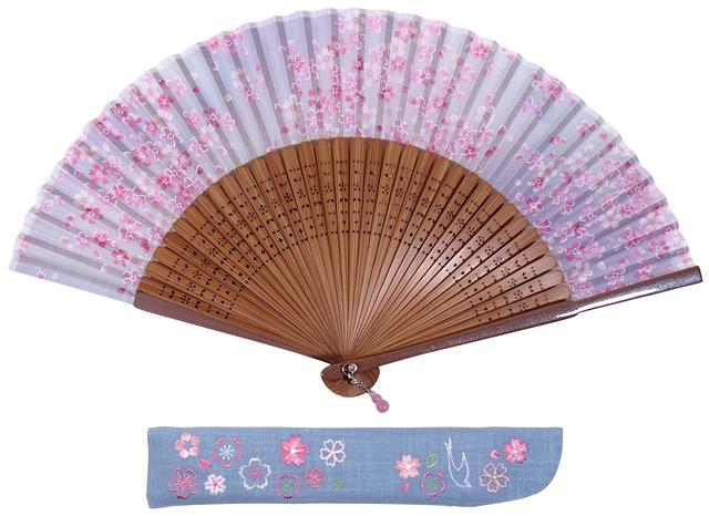 扇子セット 桜 ブルー